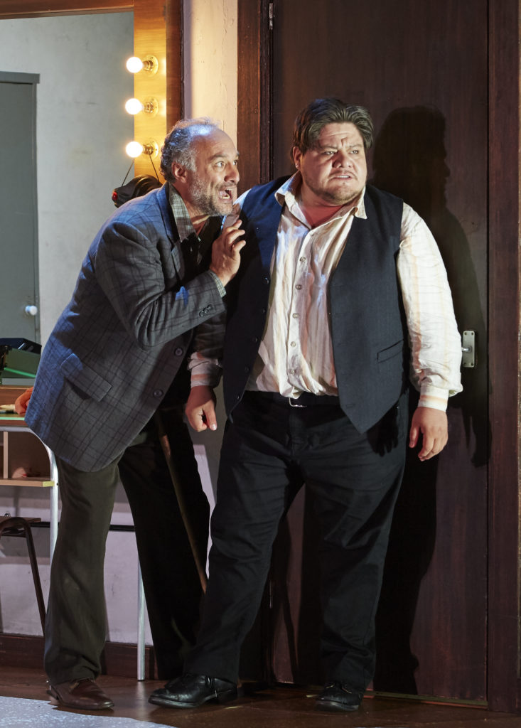 José Carbó as Tonio and Diego Torre as Canio in Pagliacci.
