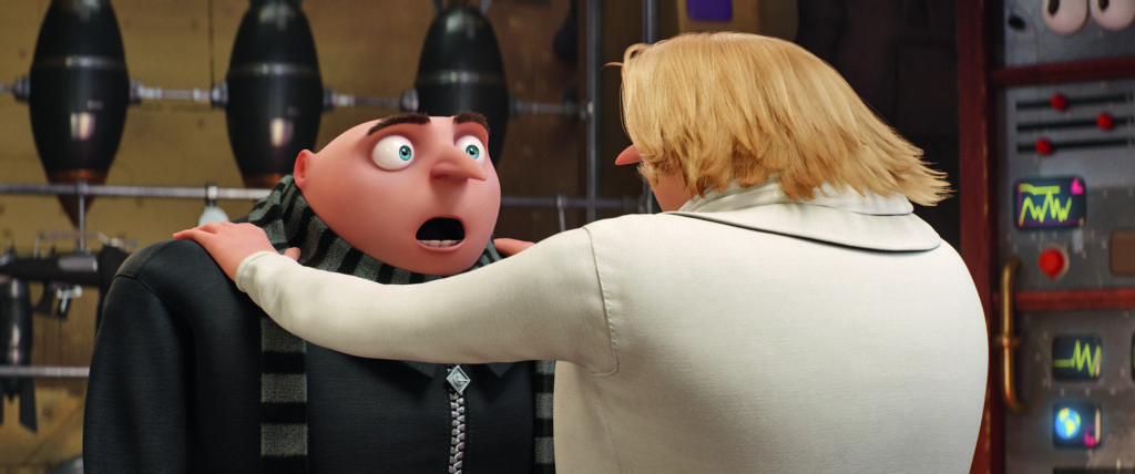 Gru meets his brother Dru in Despicable Me 3.