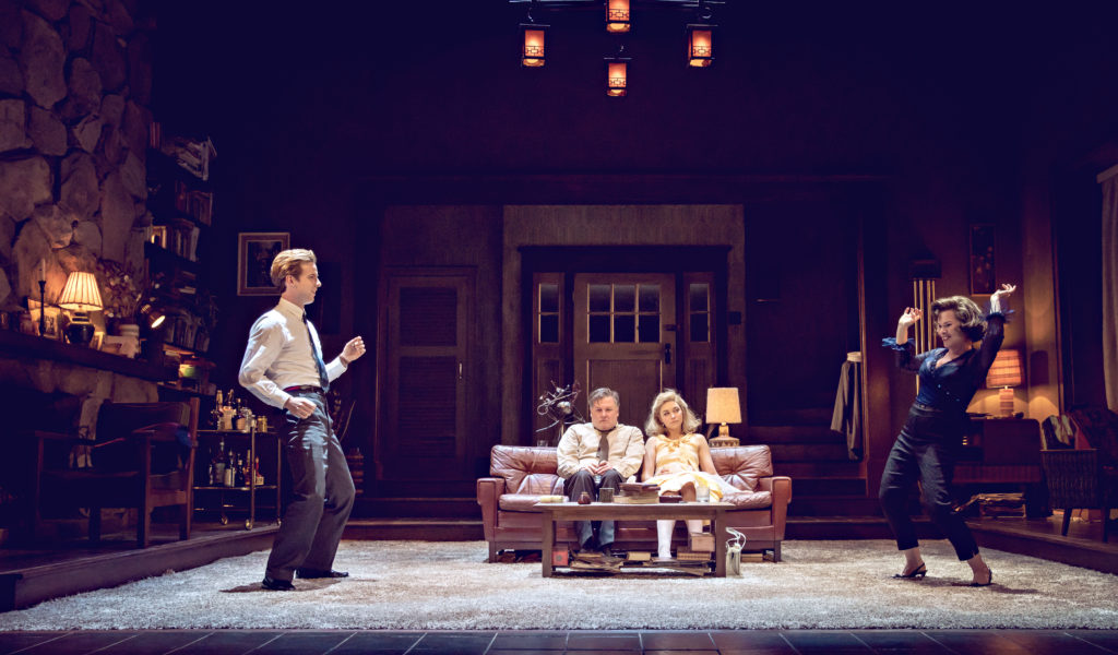 The cast of Who's Afraid of Virginia Woolf. - Luke Treadaway, Conleth Hill, Imogen Poots and Imelda Staunton.