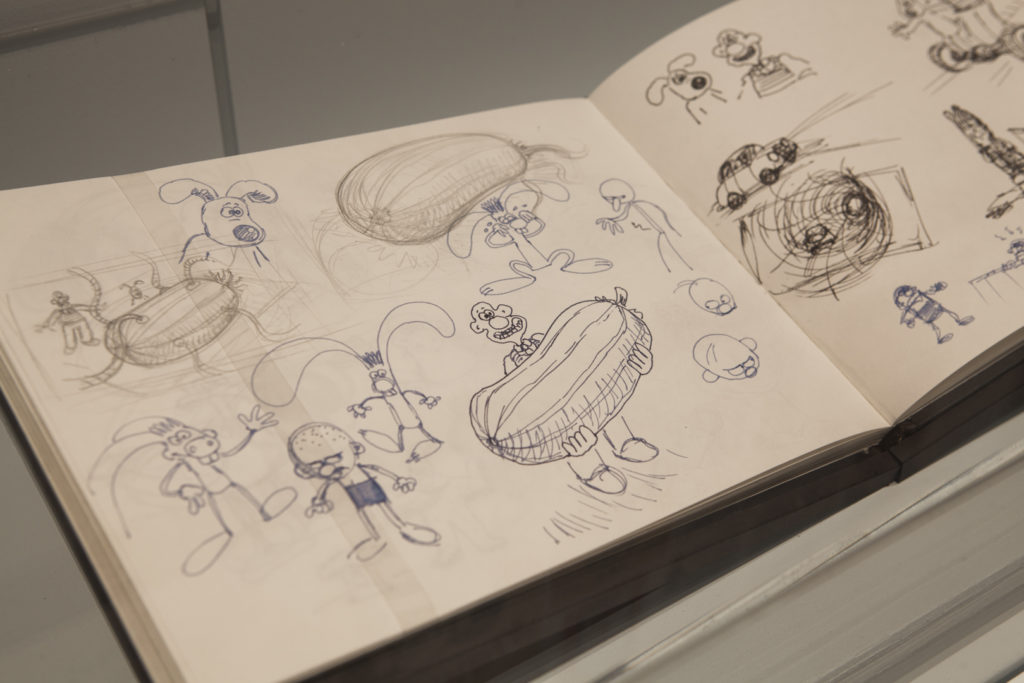 Drawings are one of the features of Wallace & Gromit and Friends: The Magic of Aardman.*