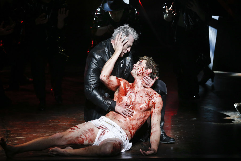 Michael Cormick and Rob Mills in Jesus Christ Superstar.