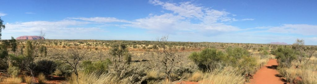 This view of Uluru and Kata Tjuta was only a short walk from my apartment.