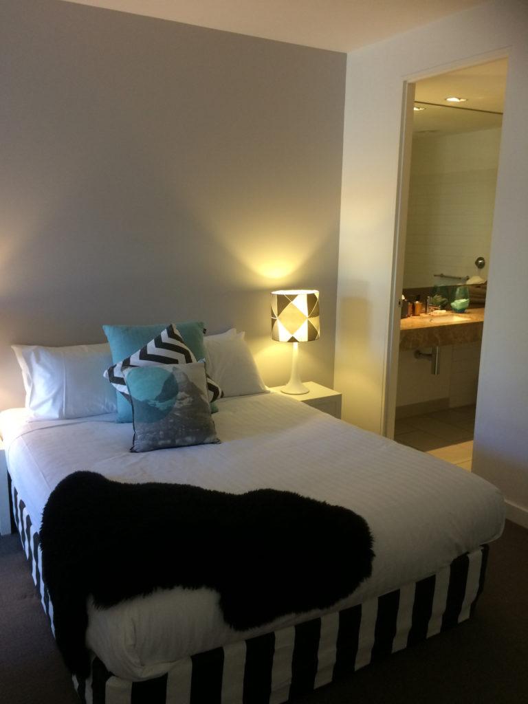 The main bedroom at QT Falls Creek.