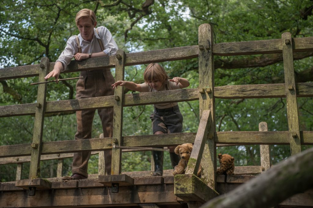 Domhnall Gleeson and Will Tilston in Goodbye Christopher Robin.