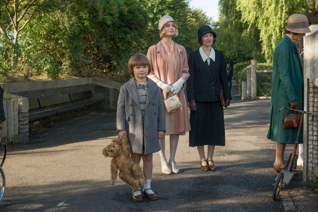 Will Tilston, Margot Robbie and Kelly Macdonald in Goodbye Christopher Robin