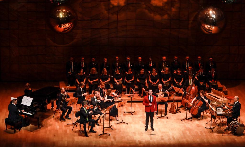 Joel Parnis with members of the Australian Brandenburg Orchestra and Brandenburg Choir. *