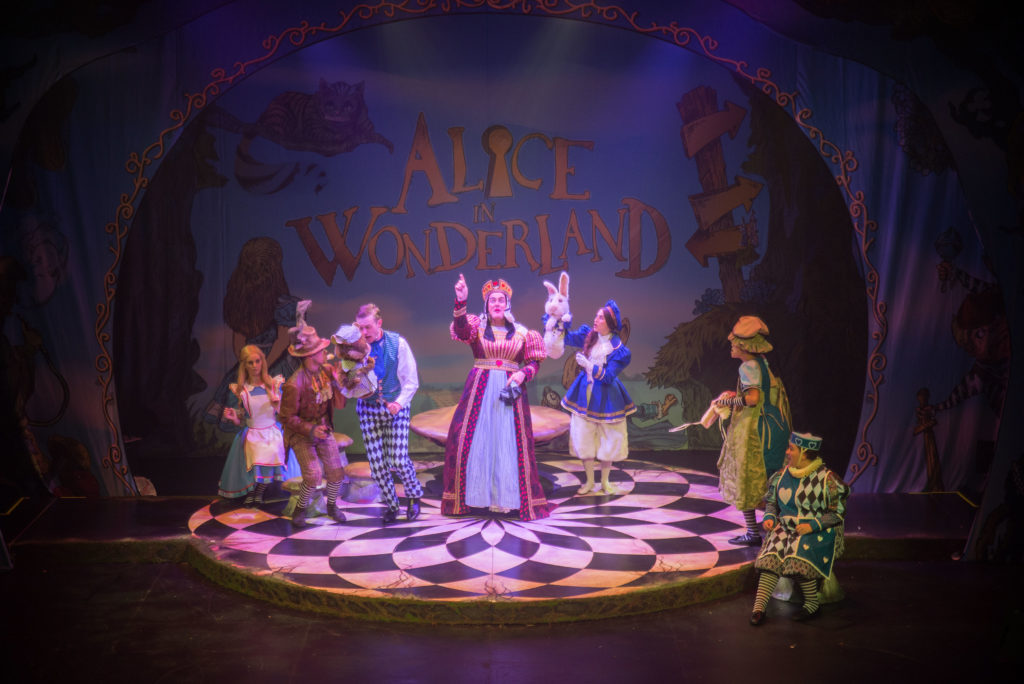 The cast of Alice in Wonderland.