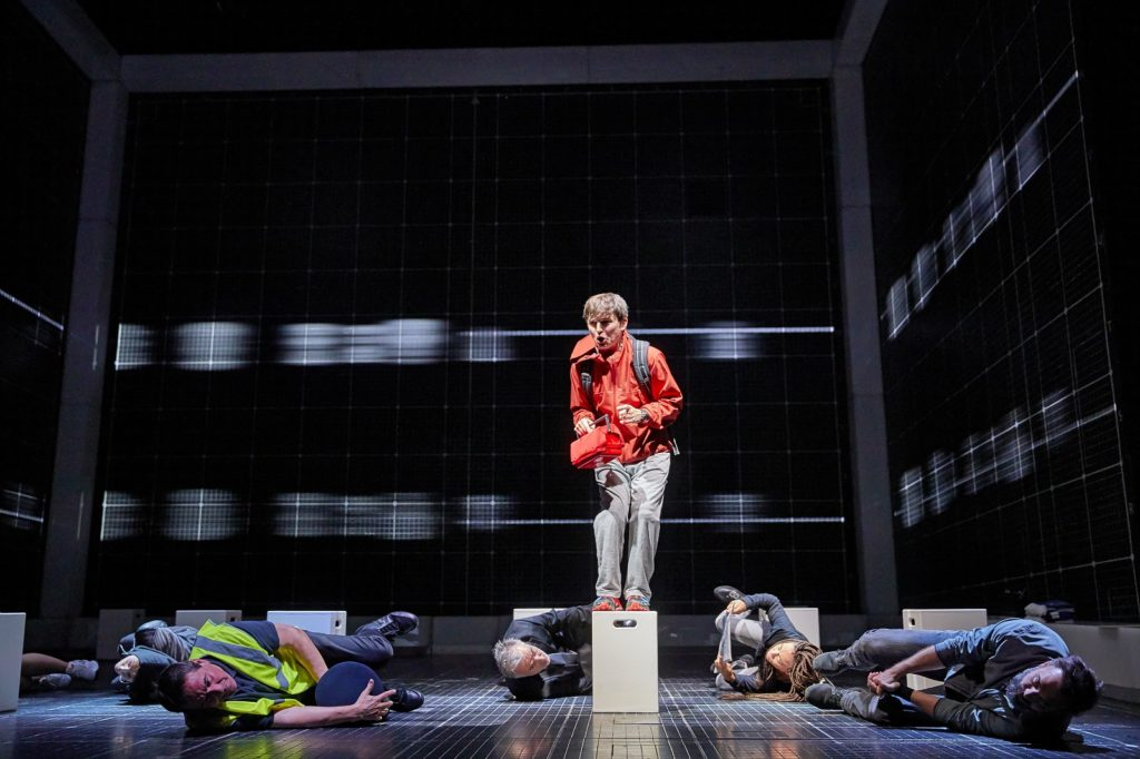Joshua Jenkins (Christopher) and company - Curious Incident International Tour. Photo by BrinkhoffMögenburg