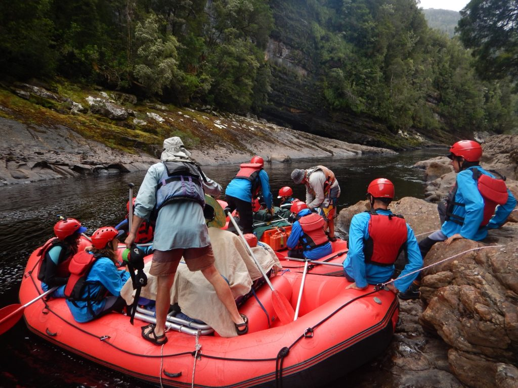 Heading off on our adventure on the Franklin River with Water by Nature Tasmania.*